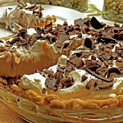 Serving of Easy Chocolate Cream Pie Recipe