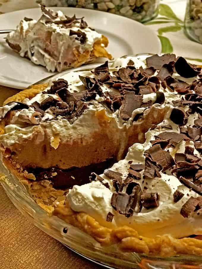 This easy chocolate cream pie recipe is a decadent dessert that is perfect for any meal or special occassion.