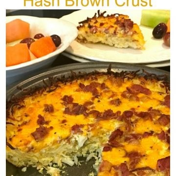 Hash brown quiche with bacon can feed 8 people for about $10.00