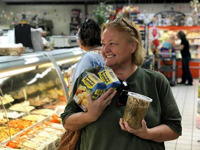 a woman in a grocery store.