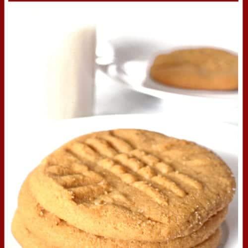 3-Ingredient Peanut Butter Cookies Recipe