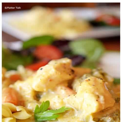 Creamy Chicken on Platter Talk