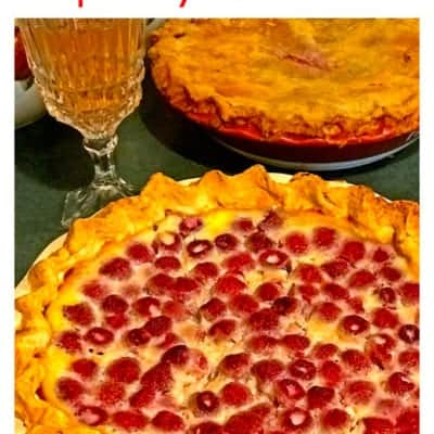 Raspberry Custard Pie & Homemade Pie Crust Recipe