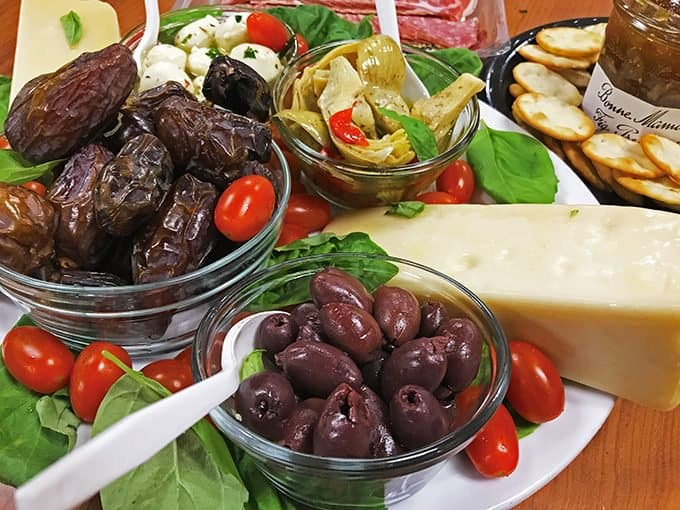 The ingredients for an antipasto platter can be anything you like!