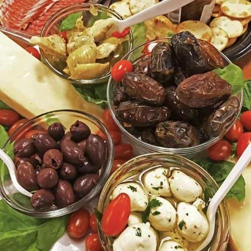 An anitpasto platter can be made very quickly and is a great dish to bring to your next family reunion, potluck, or specail party.