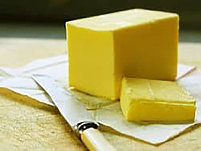 Use butter to help keep a cake from sticking to the pan.