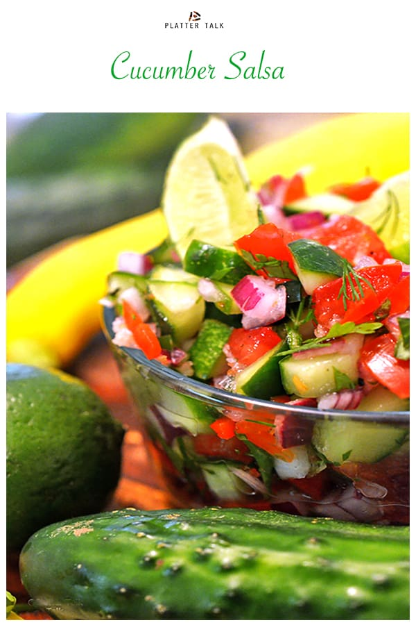 Cucumber Salsa recipe on pinterest.