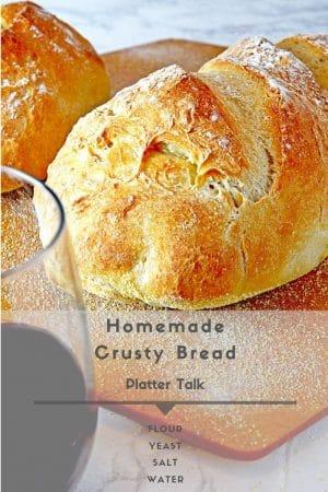 Crusty Bread Recipe - Simple Bread Recipe for Artisan Bread