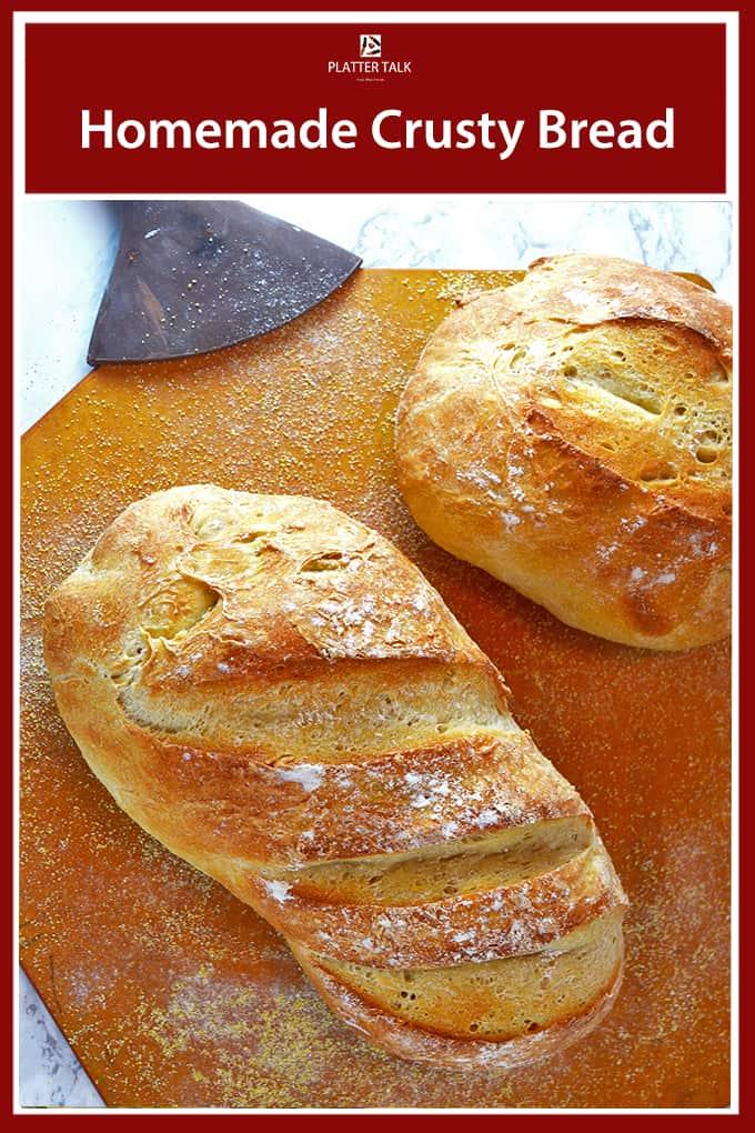 Homemade Crusty Bread Recipe 3 Ingredient Simple Bread