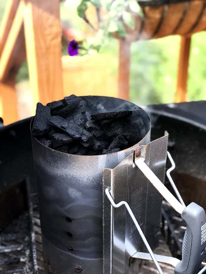Use a charcoal chimney to light your grill.