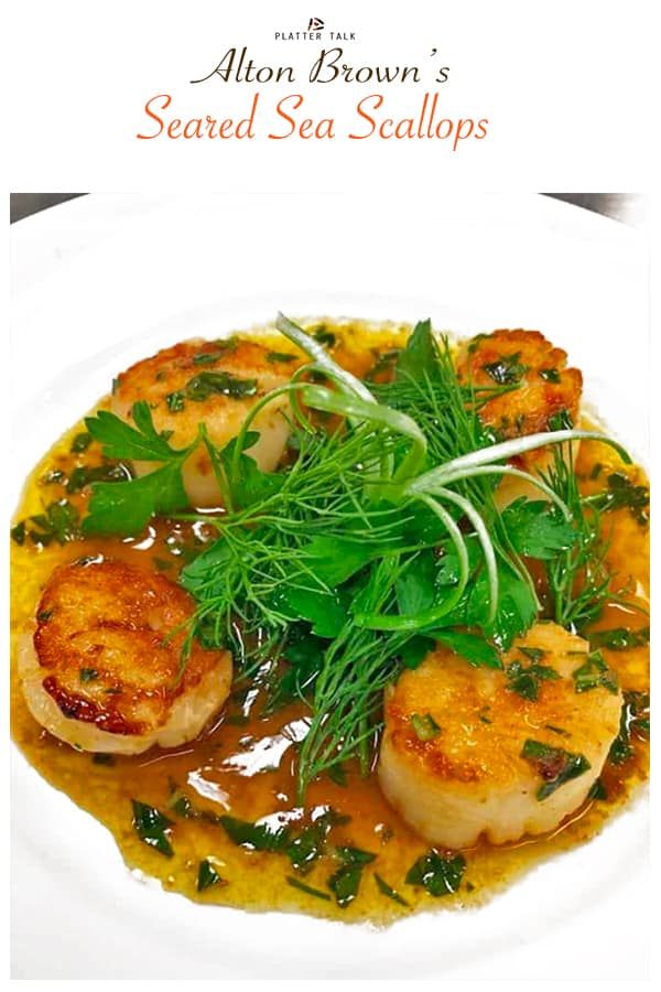 Bowl of seared sea scallops