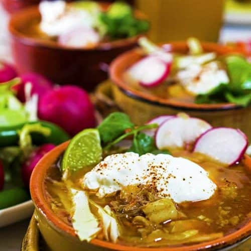 We love sour cream with our posole.