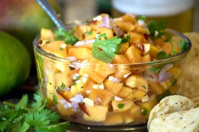 You can eat papaya salsa with chips or use as a garnish.