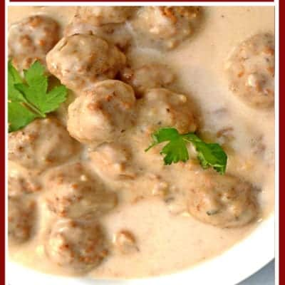 Easy Creamy Garlic and Mushroom Meatballs