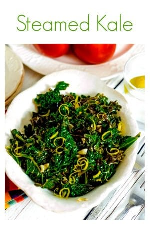 This steamed kale recipe from Platter Talk is full of health and convenience. Make this super-food and serve as an entrée or a side dish. Best of all, it can be preapared in less than 30 minutes!