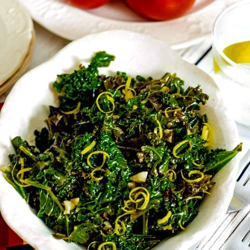 Steam Kale Recipe from Platter Talk can be made in less than 30 minutes.