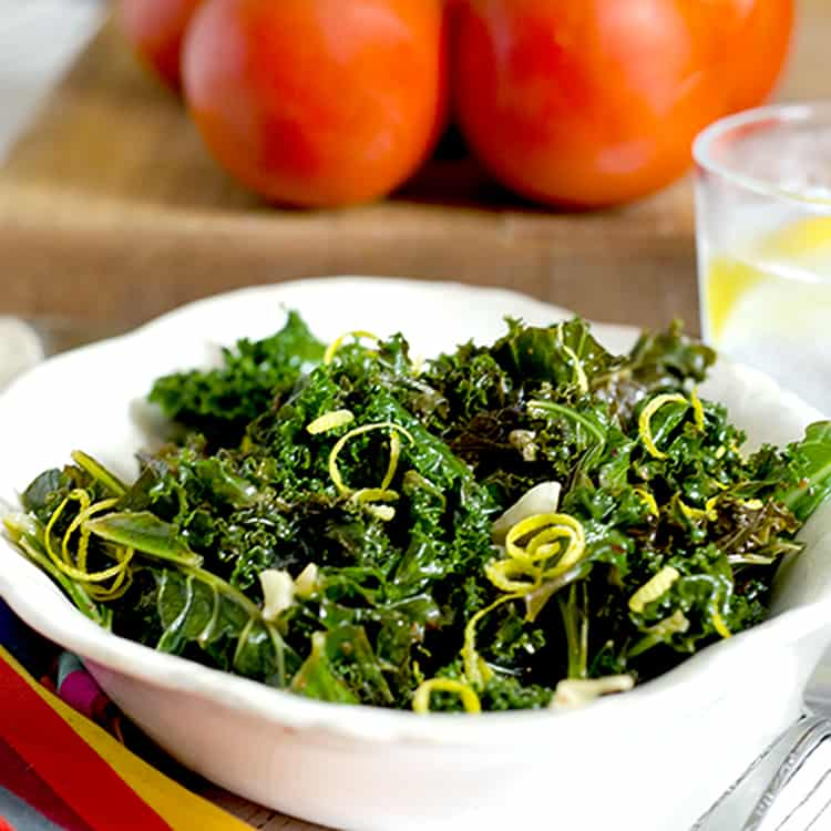 Steamed Kale can help lower cholesterol.