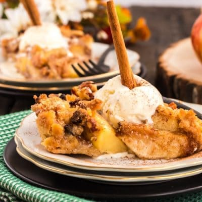 Serving od apple pie ala mode.
