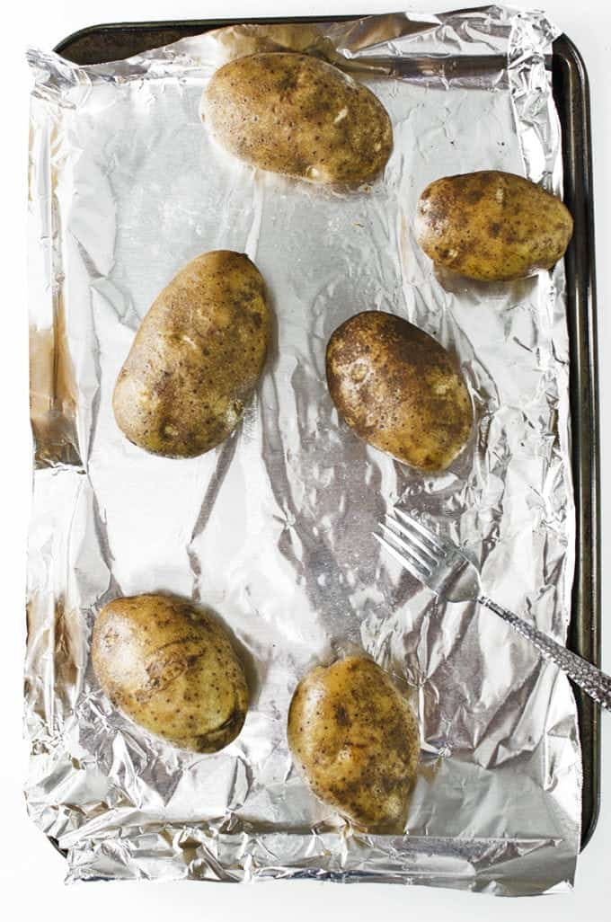 Potato dumplings use baked potatoes.