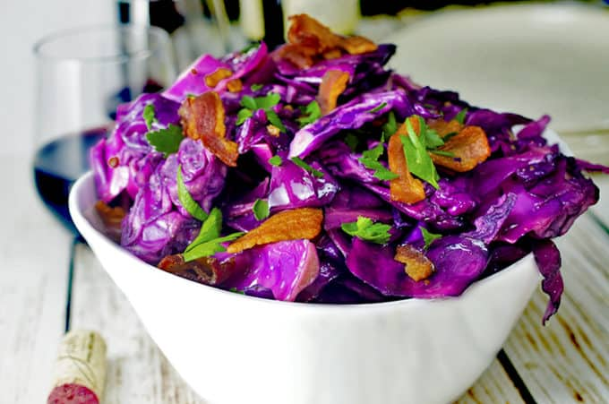 Fried cabbage savory side dish.