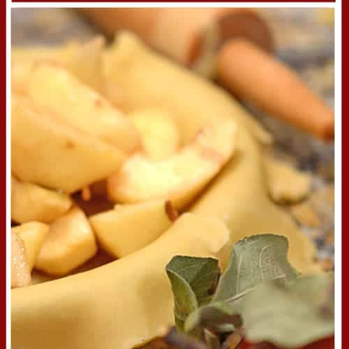 Dutch apple pie (open-face apple pie) recipe.