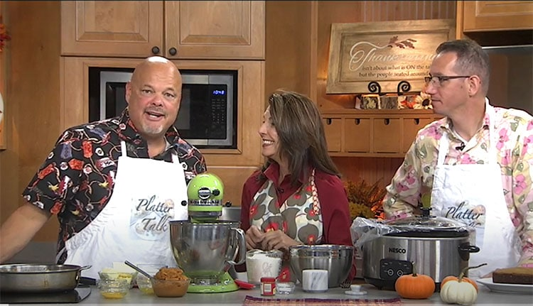 Platte Talk guys as guest on Living with Amy morning TV show