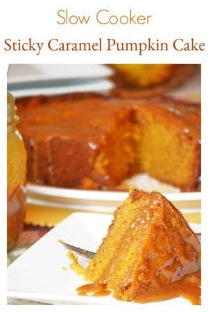 Slow Cooker Sticky Caramel Pumpkin Cake from Platter talk is a crock pot wonder. Your family and guests will never believe this came from a slow cooker.