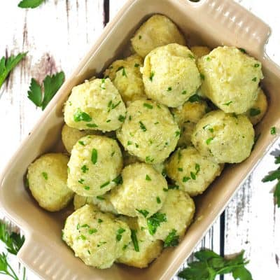 Serve these potato dumplings with a variety of seasonings and dishes.
