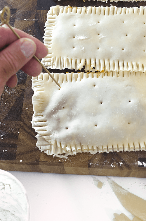 Make vents in the pop tarts using a tooth pick