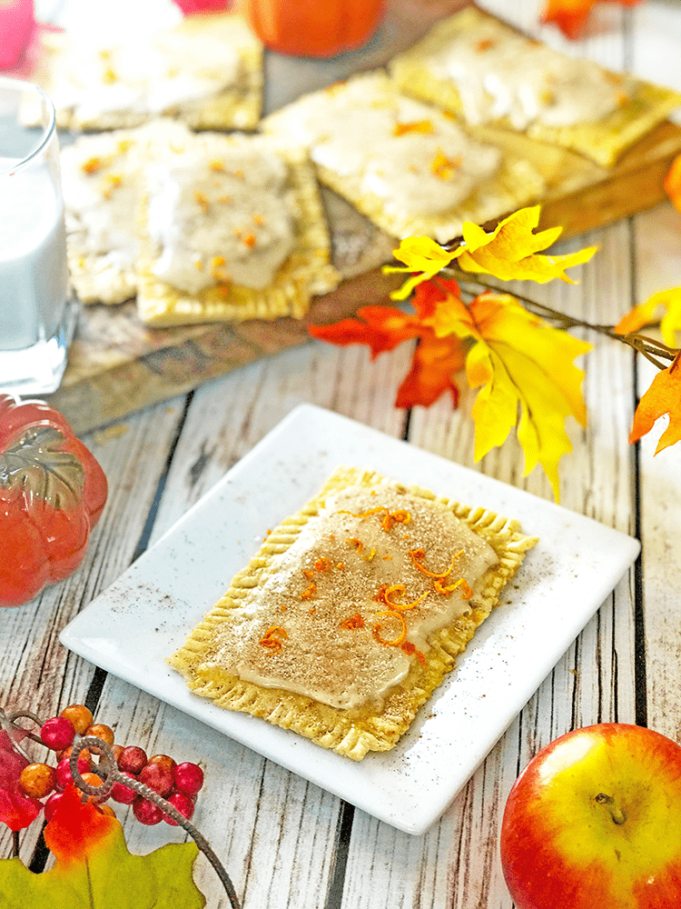 Pumpkin pop tarts are easy to make.