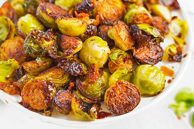 Roasted Brussels sprouts can be made in just 30 minutes.