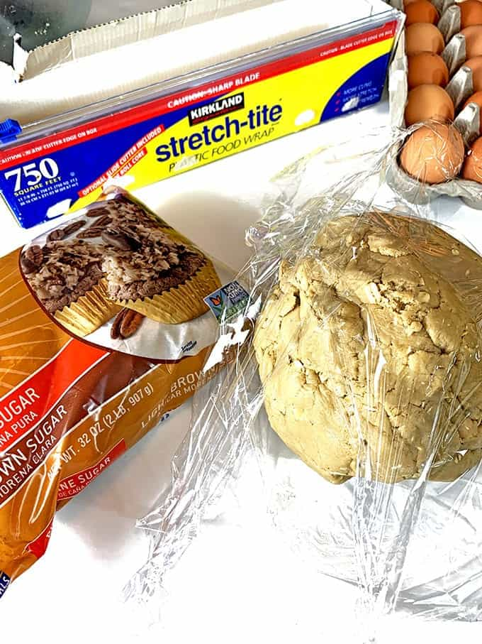 Chill the dough for date cookies.