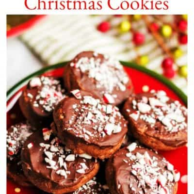 Chocolate Mint Cookies #ChristmasSweetsWeek