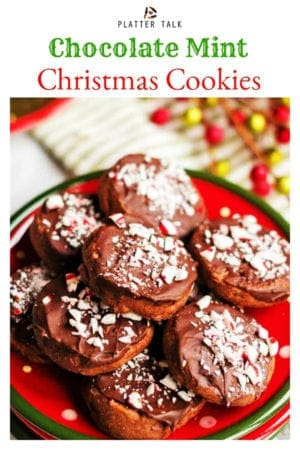 Chocolate Mint Cookies Holiday Shortbread Cookies Platter Talk