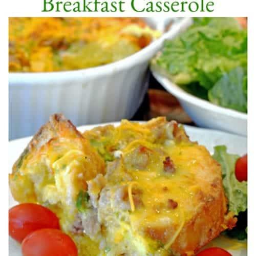 Overnight Breakfast Casserole Recipe from Platter Talk