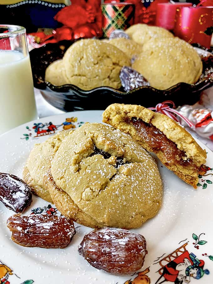 Date filled cookies are great Christmas cookies.
