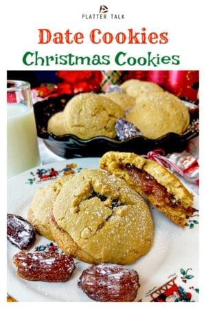 Date Cookies by Platter Talk feature date filled cookies from the Mennonite Community Cookbook. Try these Christmas cookies, this holiday season! #datecookies #datefilledcookies #daterecipes #Christmascookies #holidaycookies