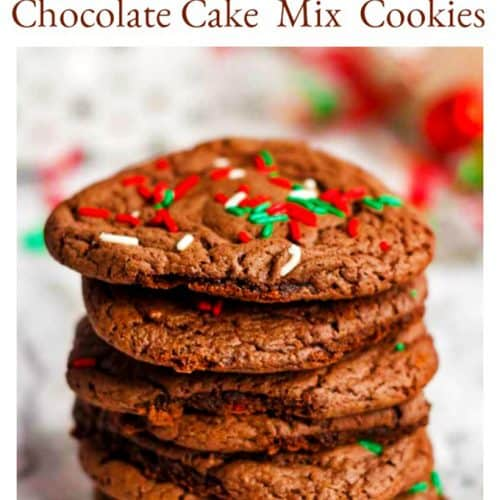 Chocolate Cake Mix Cookies on Platter Talk