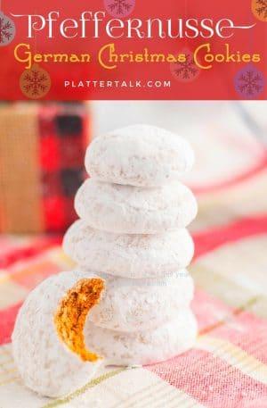 Stack of https:Stack of pfeffernusse German christmas cookies/