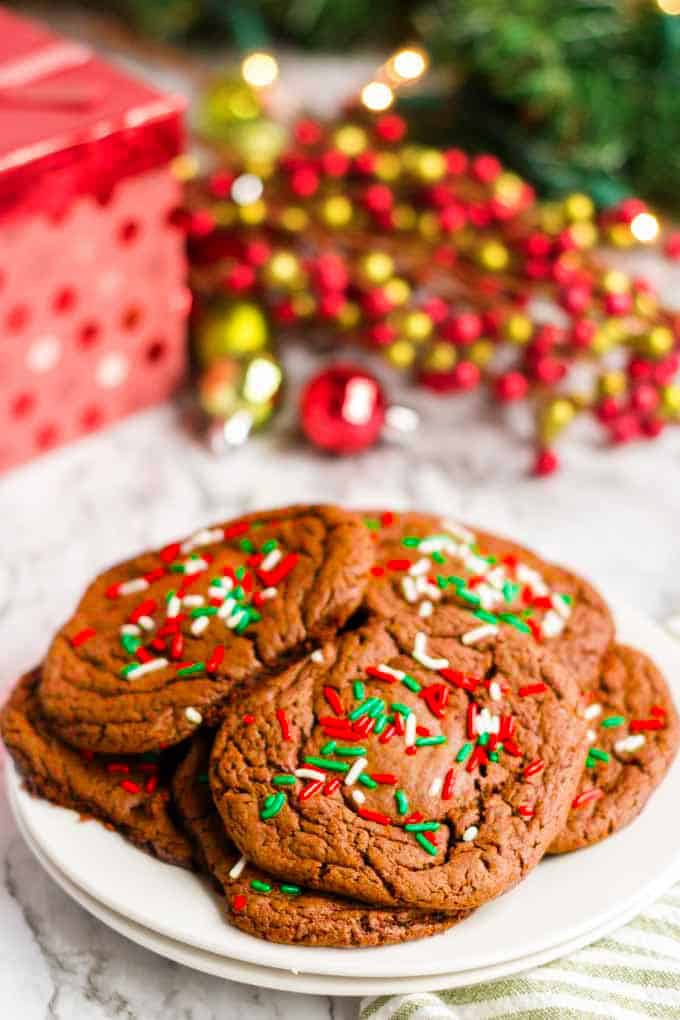 Make chcocolate cookies for the holidays.