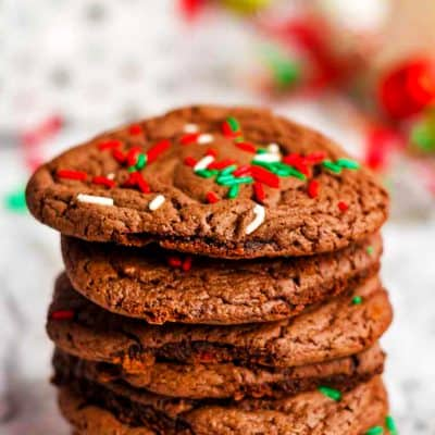chocolate cake mix cookies are a fast and easy receipe.