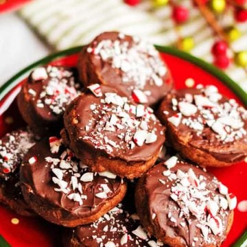Choclate mint cookies are popular Christmas cookies.
