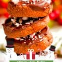 Stack of Chocolate Mint Christmas Cookies