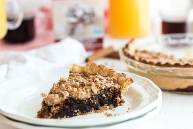 slice of shoofly pie