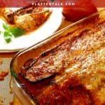 Pan of zucchii parmesan