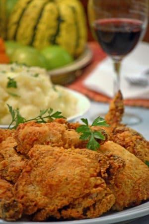 Platter of Buttermilk Oven Fried Chicken
