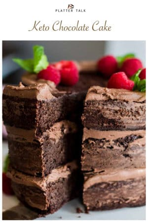 Keto Chocolate Cake with Berries
