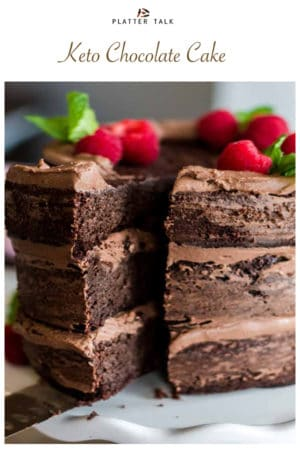 Keto Chocolate Cake for Pinterest