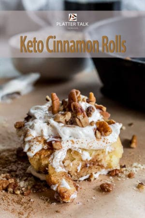 Keto cinnaomn roll with skillet