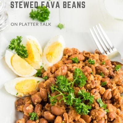 Stewed Fava Beans (Ful Medames)